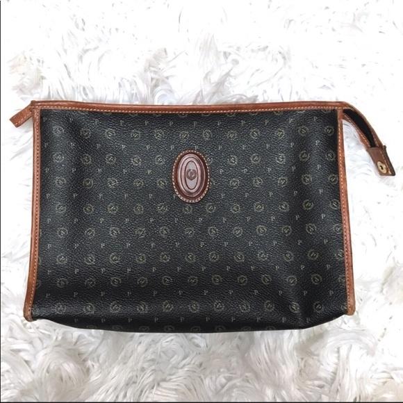 Pollini Handbags - POLLINI vintage bag cosmetic pouch travel clutch